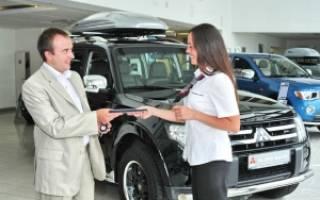 Последовательность действий при покупке автомобиля в салоне