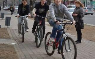Езда на велосипеде по тротуару штраф